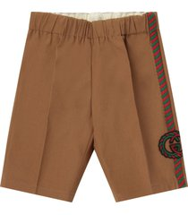 gucci beige pants with double gg for baby boy