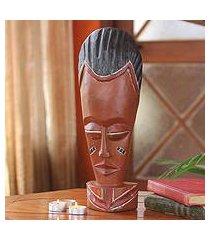 african wood mask, 'abrantie' (ghana)
