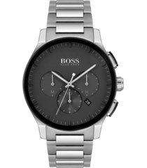 boss men's chronograph peak stainless steel bracelet watch 44mm