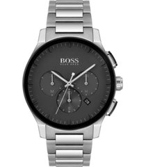 boss men's chronograph peak stainless steel bracelet watch 44mm