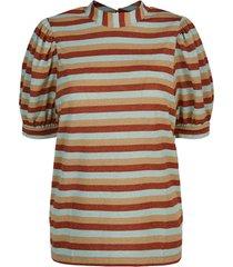 summum 3s4501-30217 285 top puff slv lurex multicolour stripe terra