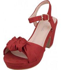 sandalia nataly rojo weide