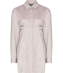 light purple la robe cavaou courte shirt dress