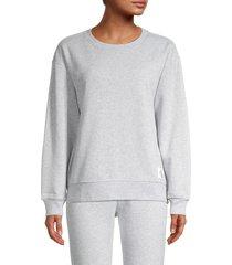 calvin klein jeans women's crewneck pullover sweatshirt - pearl heather grey - size s