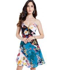 vestido sl georgiana dress multicolor guess