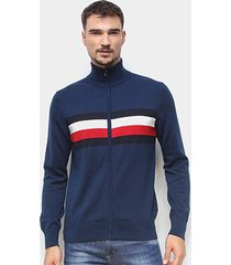 blusa tricot tommy hilfiger estampada masculina - masculino