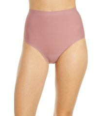 women's knix leakproof high waist panties, size medium - pink