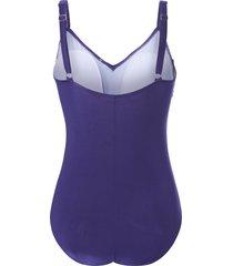 badpak met verstelbare schouderbandjes van grimaldimare paars