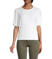 cupcakes and cashmere women's esperanza t-shirt - optic white - size xs