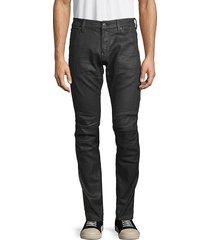 g-star raw men's coated skinny moto jeans - dark aged cobbler - size 30 32
