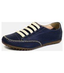 tênis torani sapatênis casual azul