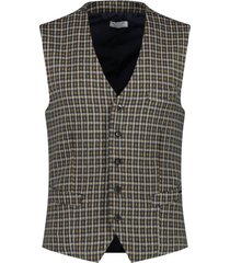 gilet mini check geel