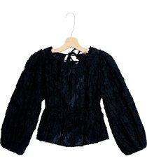 women's free people callie top, size medium - black