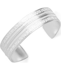lucky brand silver-tone hammered cuff bracelet