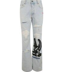 off-white ev low fit jeans