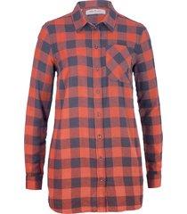 camicia lunga in flanella (blu) - john baner jeanswear