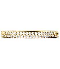 mk anello in argento sterling con placcatura in metallo prezioso e pavé - oro (oro) - michael kors