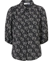 blus briela eclipse flower shirt