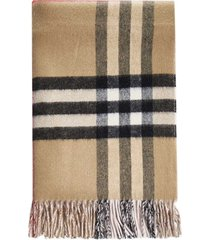 burberry check motif cashmere scarf