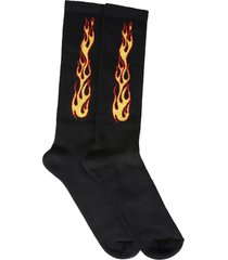 palm angels socks with flames logo