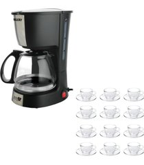 kit 1 cafeteira mallory filtro permanente 220v e 1 jogo de 12 xãcaras 240ml com pires - unico - dafiti