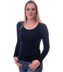 claesens women t-shirt o-neck longsleeve navy blue (8016)