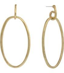 the sak gold-tone oval drop earrings