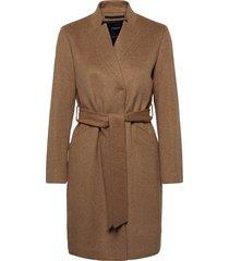slfmella wool coat b noos wollen jas lange jas bruin selected femme