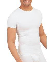 men's spanx sculpt stretch cotton crewneck t-shirt