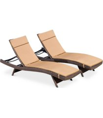 farron cushion adjustable lounge (set of 2)