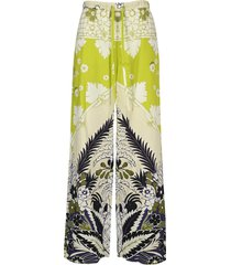 valentino tropical world arazzo print trousers