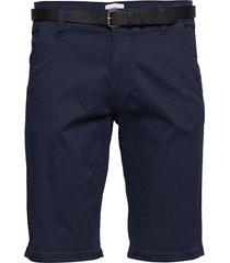 classic chino shorts w. belt shorts chinos shorts blå lindbergh