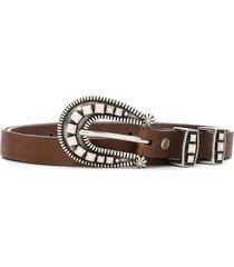 alanui stoned-hardware belt - brown