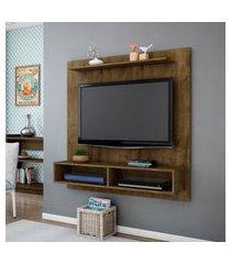 painel móveis bechara gama para tv até 47 pol madeira rústico