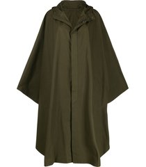 holland & holland oversized cape coat - green