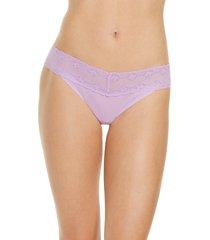 women's natori bliss perfection thong, size one size - purple