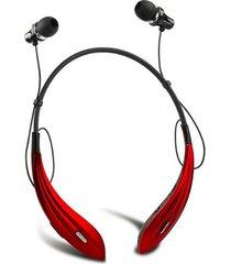 audífonos bluetooth, auriculares inalámbricos audifonos bluetooth manos libres  a810bl auriculares de cuello redondo super bass (rojo)