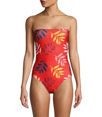 kuna leaf-print one-piece swimsuit