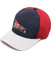 gorra azul-blanco-rojo nautica