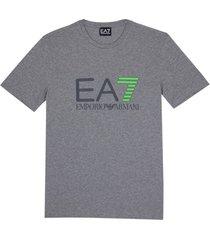 ea7 emporio armani t-shirt grijs / taupe