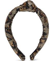 sequin leopard print knot headband