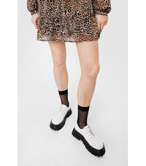 womens catch you later fishnet ankle socks - black