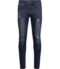 5 pocket jeans stretch slimmade jeans blå lindbergh