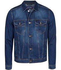 chaqueta básica de jean con bolsillos en frente freedom 00674