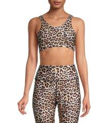 peixoto women's olivia leopard-print sports bra - leopard - size xs