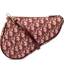 christian dior pre-owned trotter saddle clutch - red