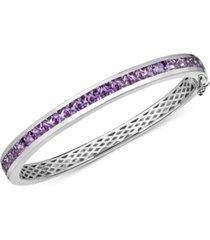 gemstone bangle bracelet (8 ct. t.w.) in sterling silver