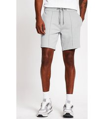 river island mens grey sid skinny jersey shorts