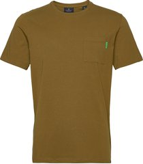 fabric dyed pocket tee t-shirts short-sleeved grön scotch & soda