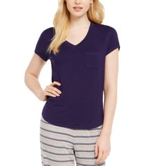 alfani ultra-soft knit pajama top, created for macy's